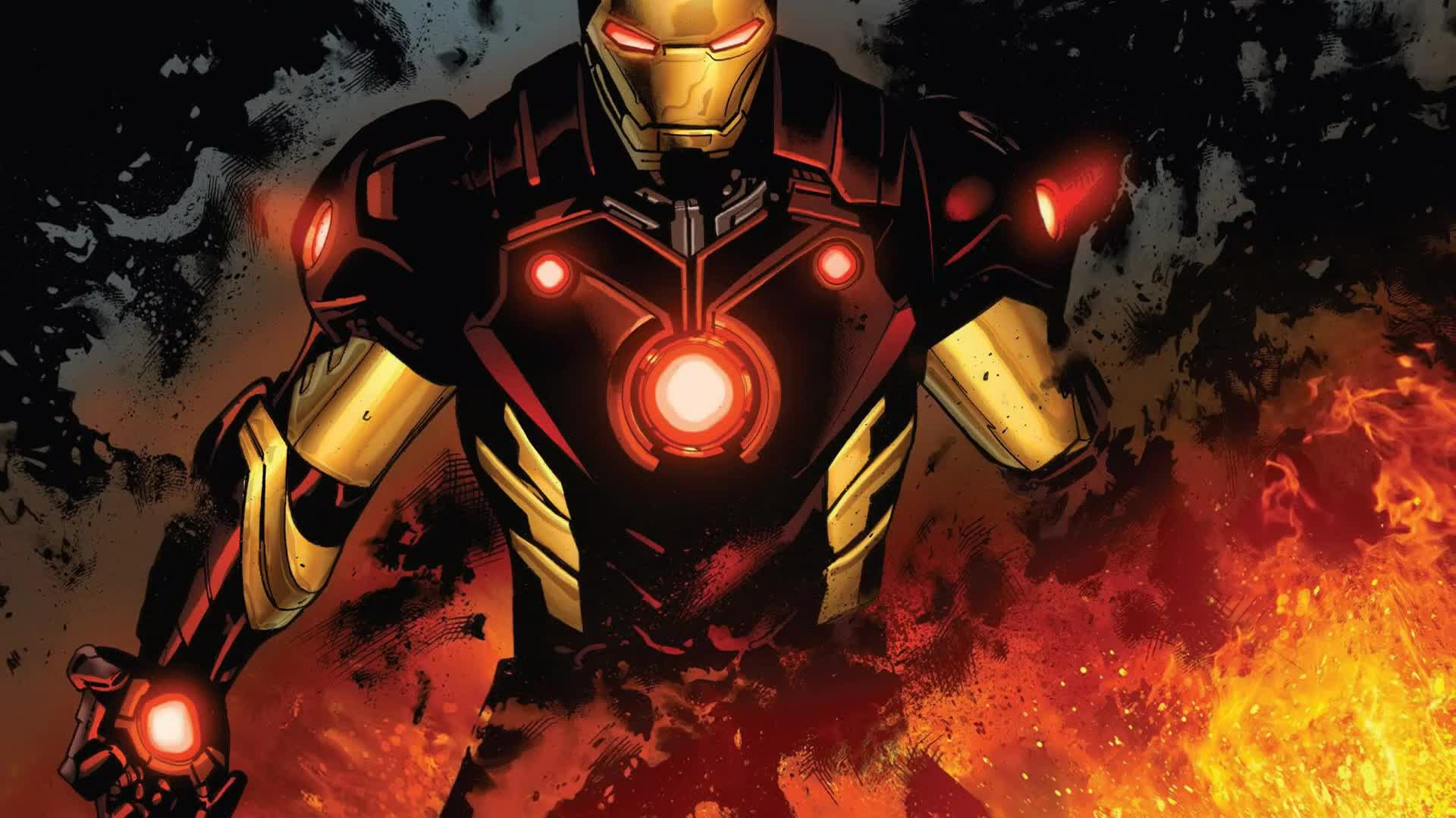 Iron Man Marvel DC Comics Artwork - Animated Live ...