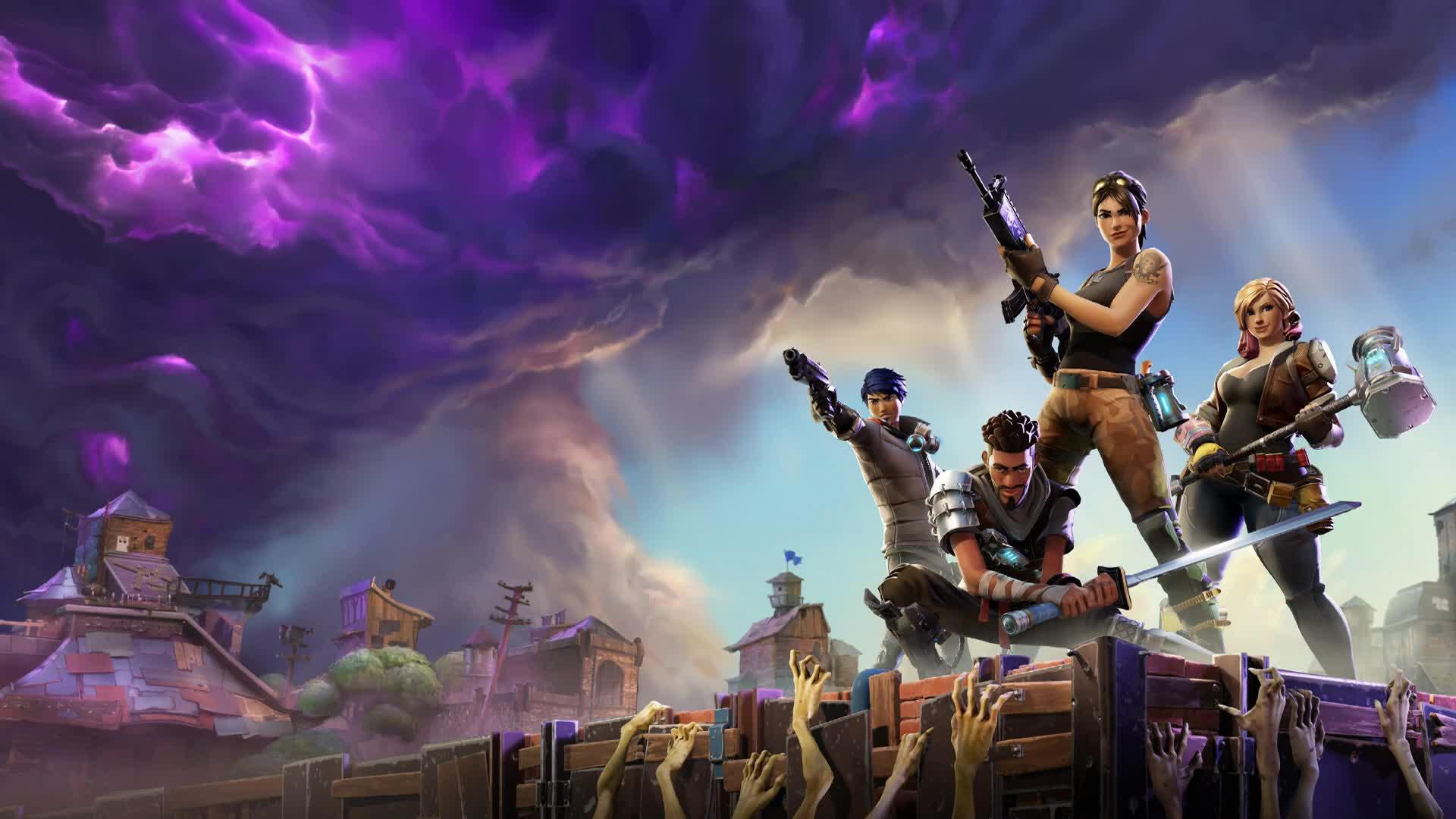 Fortnite Team Zombies Tornado Storm - Free Live Wallpaper ...