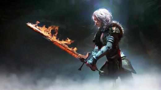 Ciri Sword Flame The Witcher 3 - Free Live Wallpaper ...
